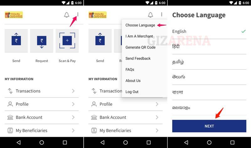 BHIM-Select Language