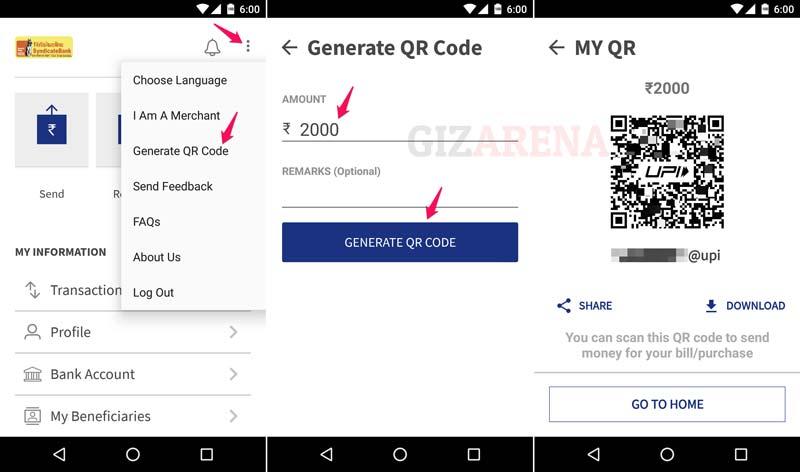 BHIM-Generate QR Code