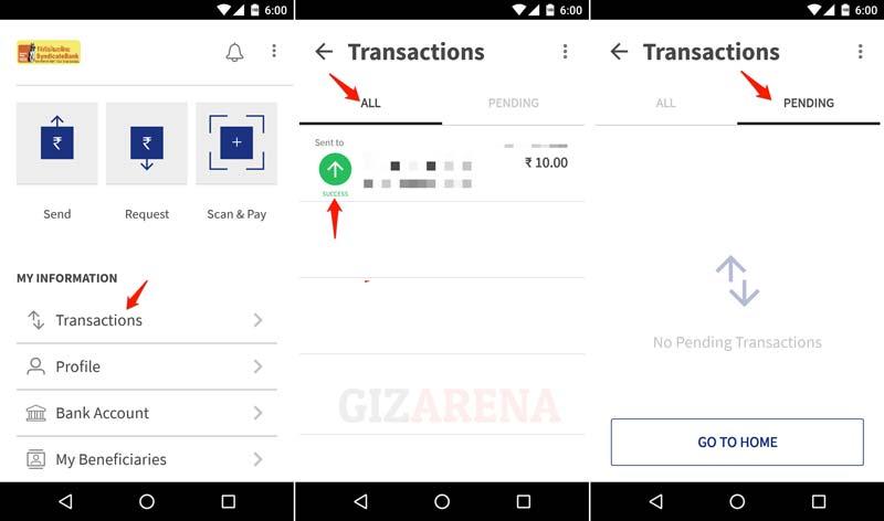 BHIM - Transaction Status Check