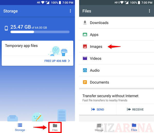 Backup Files to Google Drive Using Google Files Go App