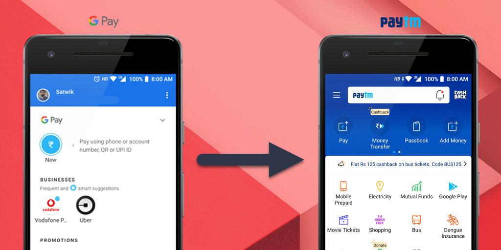 Add Money to Paytm Using Google Pay