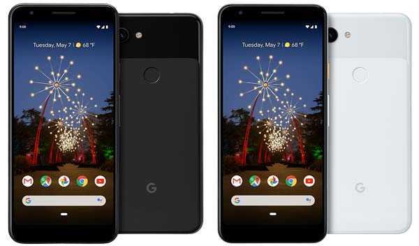 Google Pixel 3a Colors - Just Black, Clearly White