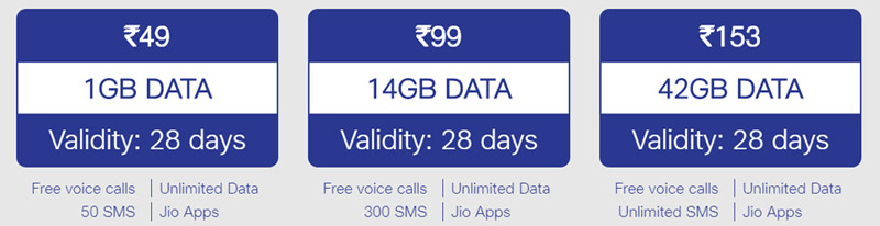 Jio Monsoon Hungama Offer Plans