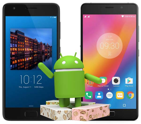 Lenovo P2 Android Nougat Update