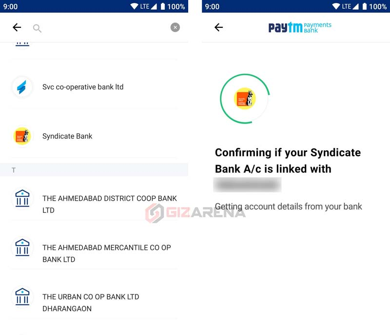 Transfer Money to Paytm from Bank Account