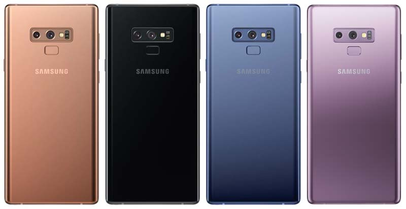 Samsung Galaxy Note 9 Colors