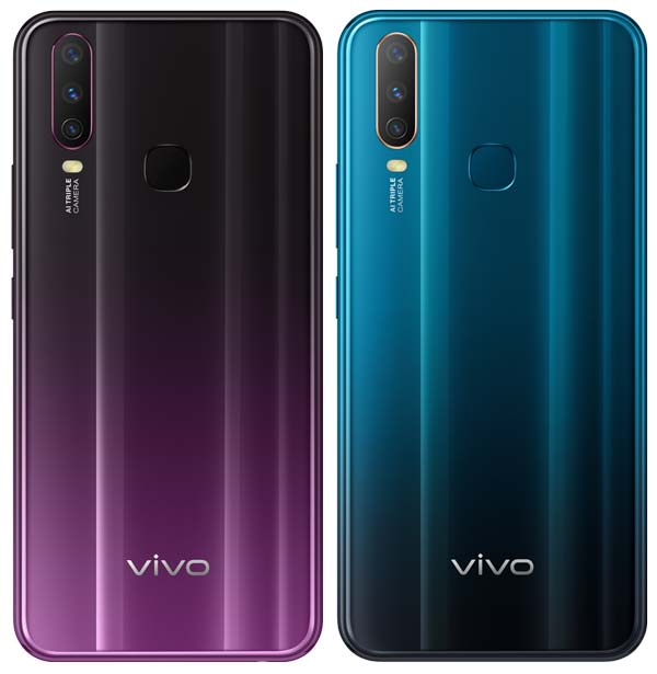 Vivo V17 Colors - Mystic Purple & Mineral Blue