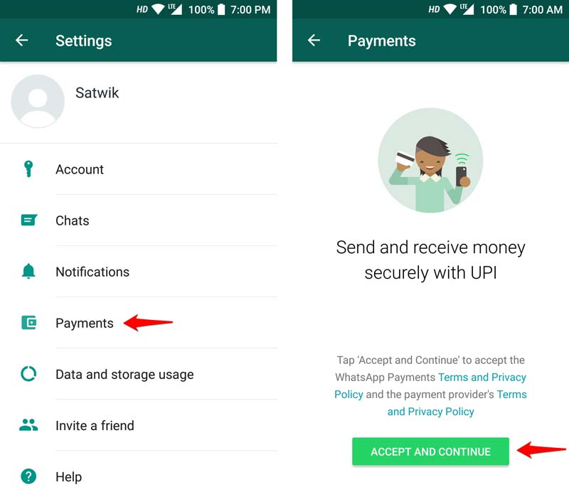 Send Money Using WhatsApp